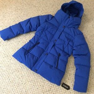 🆕 GUESS blue puffer snow jacket coat- size medium